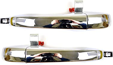 PT Auto Warehouse CH-3300M-RP - Outside Exterior Outer Door Handle, Chrome - Rear Left/Right Pair