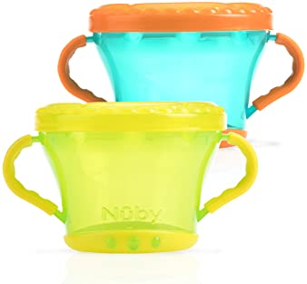 Nuby 2-Pack Snack Keepers, Colors May Vary