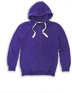 H&W Tank Men's Lightweight Basic Zip Down Fleece Hoodie Jacket-14 Variety of Colors, Size S to 6XL