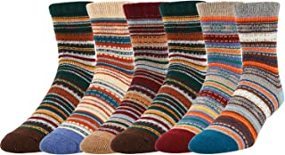 5 Pack Men's Warm Thick Knit Wool Cozy Zmart Socks Cool Fall Winter Striped Gift