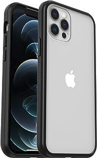 OtterBox Sleek Case funda anticaídas fina para Apple iPhone 12/12 Pro - transparente/negra - sin embalaje