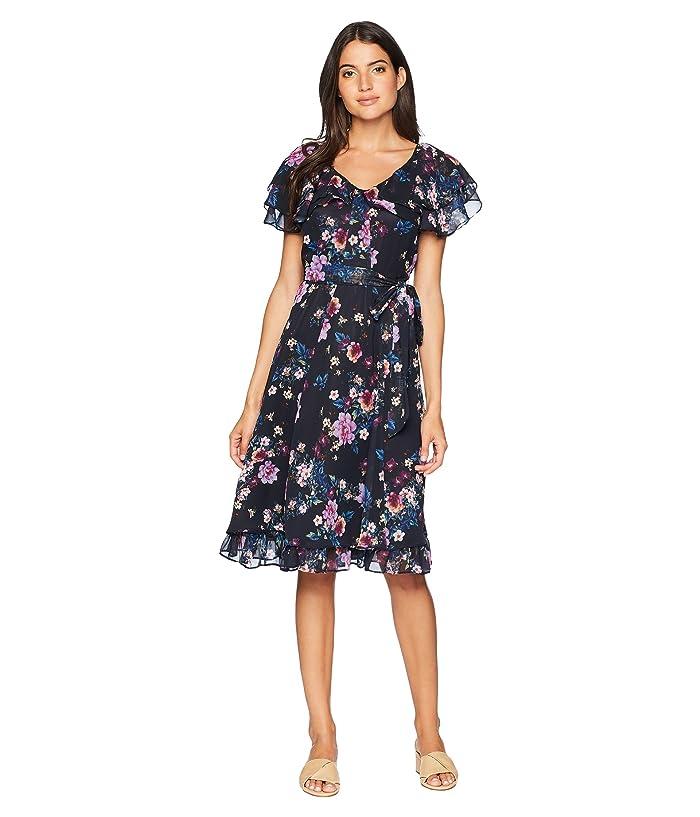 31ec511d Tahari by ASL Chiffon Floral Midi Dress at Zappos.com