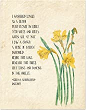 Golden Daffodils William Wordsworth Inspirational Literary Quote from Daffodils. Fine Art Print For Classroom, Library, Home or Nursery