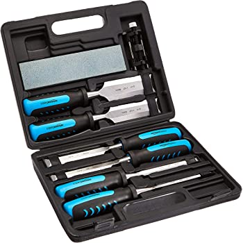 AmazonBasics 8-Piece Wood Carving Chisel Set
