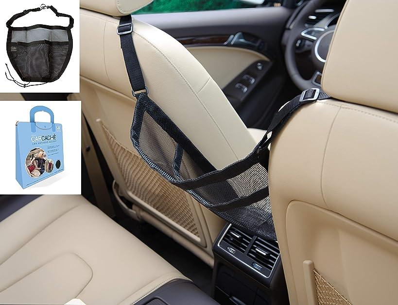Car Cache - Handbag Holder: Car Storage for Purse & Pocket for Smaller Items - Helps as Dog Barrier, Too! Original Invention, Patented