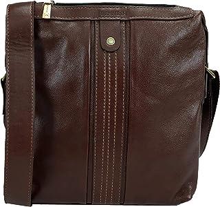 8e2a7b477 Bolsa Masculina Tiracolo para Tablet em Couro Bennesh 50003 - Castanho