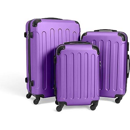 Doubleblack Valise pour Enfants Bagage de Voyage pour Enfants Mod/élisation de Moto avec 4 Roues Violet