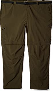 Columbia Big and Tall Men's Silver Ridge Convertible Pant, Breathable, UPF, Peat Moss, 54x32