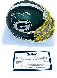 Aaron Rodgers Green Bay Packers Signed Autograph Blaze Speed Mini Helmet Steiner Sports Certified