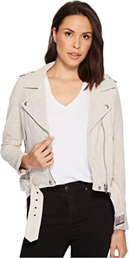 Blank NYC - Real Suede Moto Jacket in Blondie