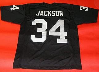 BO JACKSON BLACK OAKLAND CUSTOM STITCHED NEW FOOTBALL JERSEY MEN'S XL