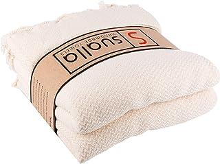 Sualla 100% Cotton - Aegean Turkish Towel - Natural (Set of 2)