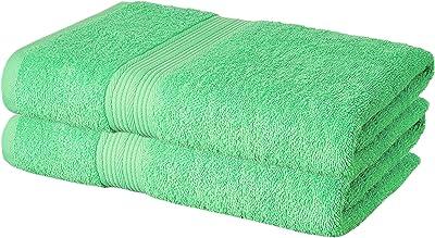 HighLife 2 Piece 450 GSM Cotton Bath Large Towel Set - Green (Set of 2)