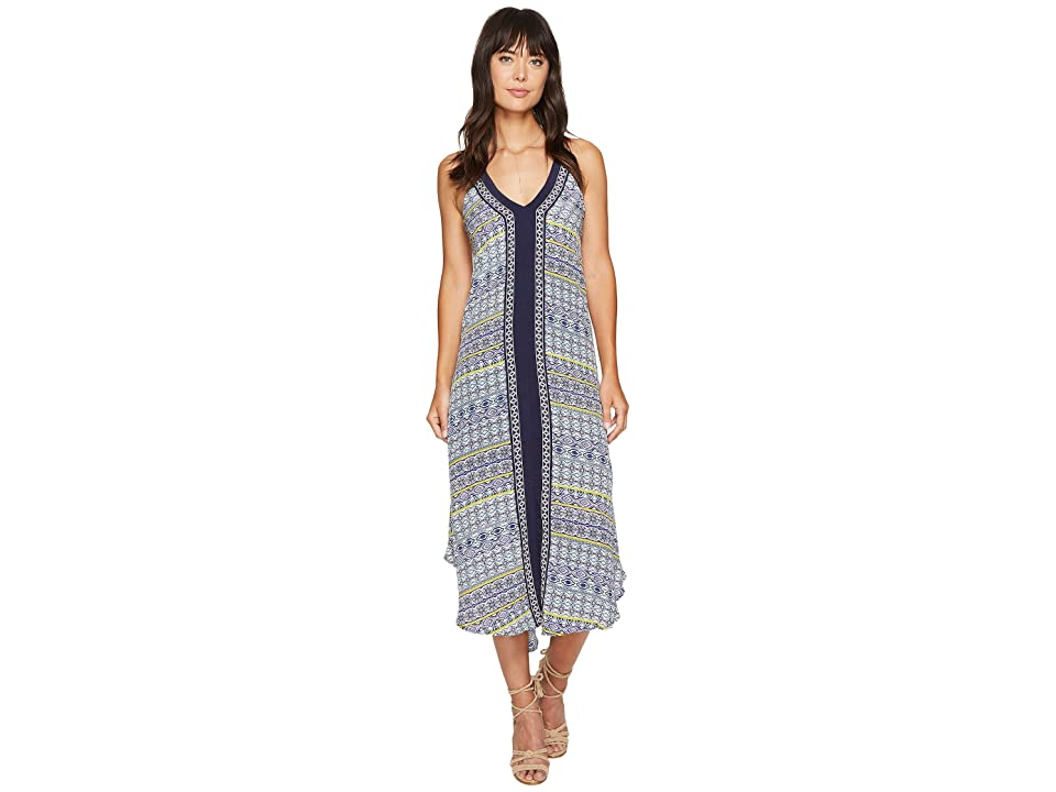 ASTR the Label Frida Dress (Navy Multi Medallion) Women