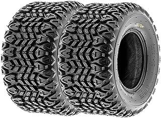 Set of 2 SunF G003 all-Terrain UTV & Golf-Cart Turf Tires 25x10.5-12, 4 Ply, Tubeless - Lawn & Garden