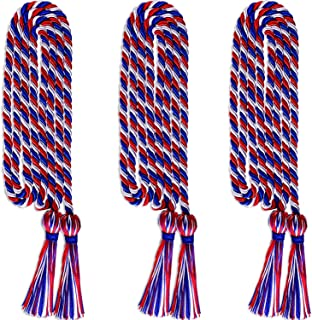 Xushop 3 Pack Graduation Honor Cords,Polyester Yarn Honor Cord with Tassel for Graduation Students for Bachelor Gown