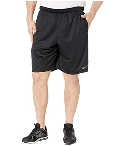 Nike Big Tall Dry Training Shorts (Black/Dark Grey) Men