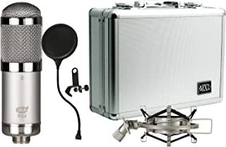 MXL R144 HE Ribbon Microphone Heritage Edition with Case, Shock Mount, and Pop Filter
