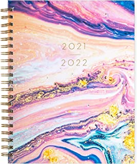 """$29 » 2021-2022 Eccolo Large Desk Size Hardcover Spiral Agenda Planner, 18 Months of Monthly & Weekly Views, 8.5 x 11"""""""