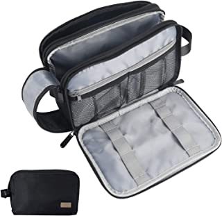 Toiletry Bag for Men, IKINHO Mens Toiletry Bag, Men's Travel Toiletries Bag, Dopp Kit Water-Resistant Shaving Bag, Hanging Toiletry Bag, Perfect Travel Goods Cosmetic Bag for Men and Women (Black)