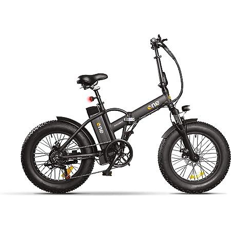 THE ONE Fat Bike Elettrica, Bici Unisex Adulto, Nero, no size