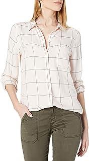 Marchio Amazon - Daily Ritual Women's Brushed Flannel Long-sleeve Button-front Tunic Long Sleeve Button Down Shirt