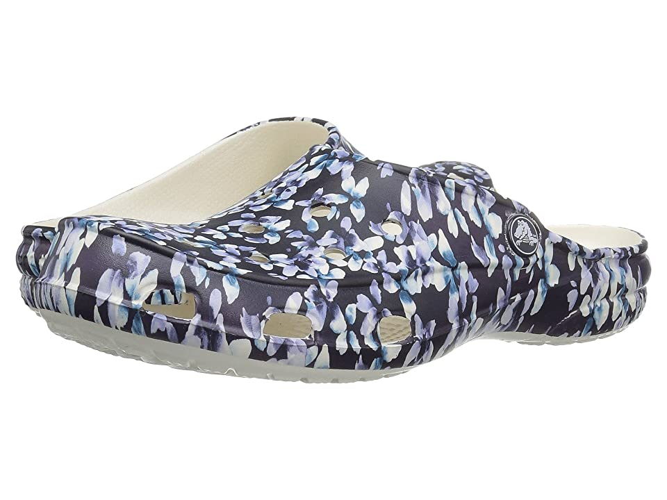 Crocs Freesail Graphic Clog (Blue/Floral) Women