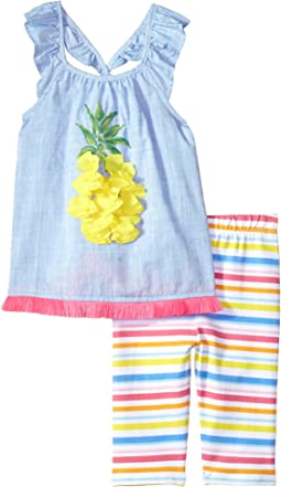 Pineapple Ruffle Tunic & Capris Two-Piece Set (Toddler)