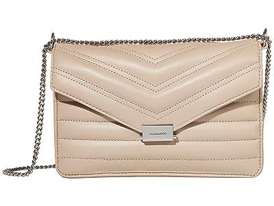 AllSaints Justine Crossbody (Sandstone) Handbags