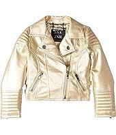 eve jnr - Vegan Leather Moto Jacket (Infant/Toddler/Little Kids)