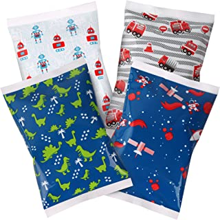 Ice Pack for Lunch Boxes - 4 Reusable Packs - Keeps Food Cold – Cool Print Bag Designs - Great for Kids or Adults Lunchbox...