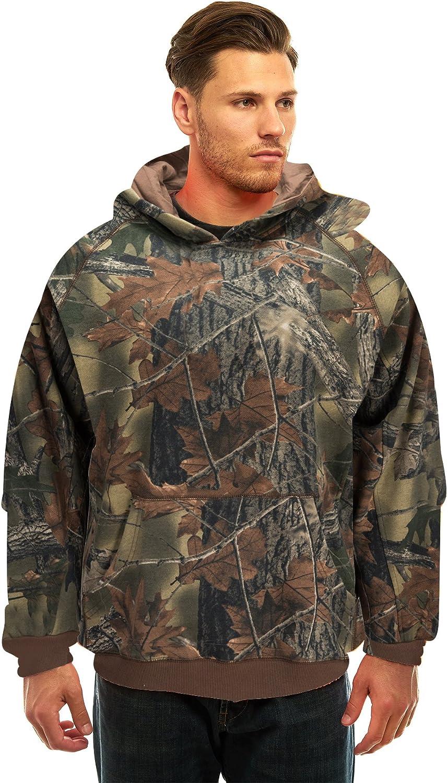 TrailCrest Mens Camo Hoodie Outdoors Sweatshirt Hunting Jacket