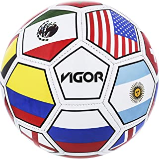 Mozlly Professional Soccer Ball Size 5 Regulation Rubber Textured Easy Grip Handling for League Match Tournament Games Dribble Training Outdoor Indoor Sport Activity for Men Women Boys Girls