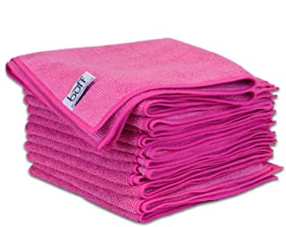 Buff Microfiber Cleaning Cloth | Pink (12 Pack) | Size 16