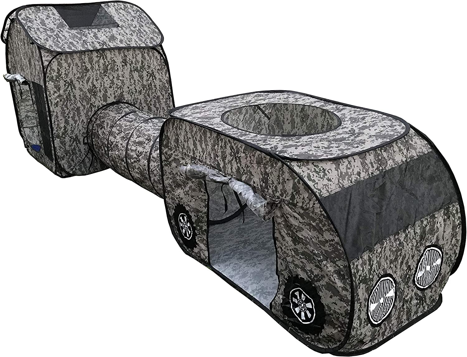 G3ELITE Kids OFFicial site Camo Play Tent Childs Piece Sale price Up Vehicle Pop Indoo 3