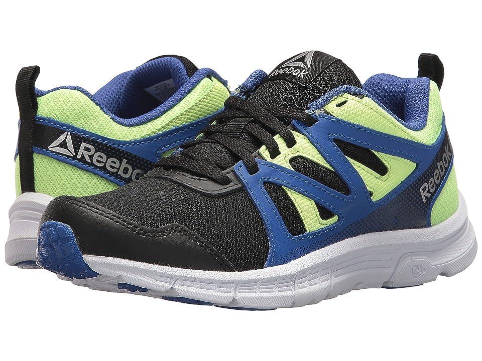 Reebok Kids Run Supreme 2.0 (Little Kid/Big Kid) (Black/Acid Blue/Electric Flash) Boys Shoes