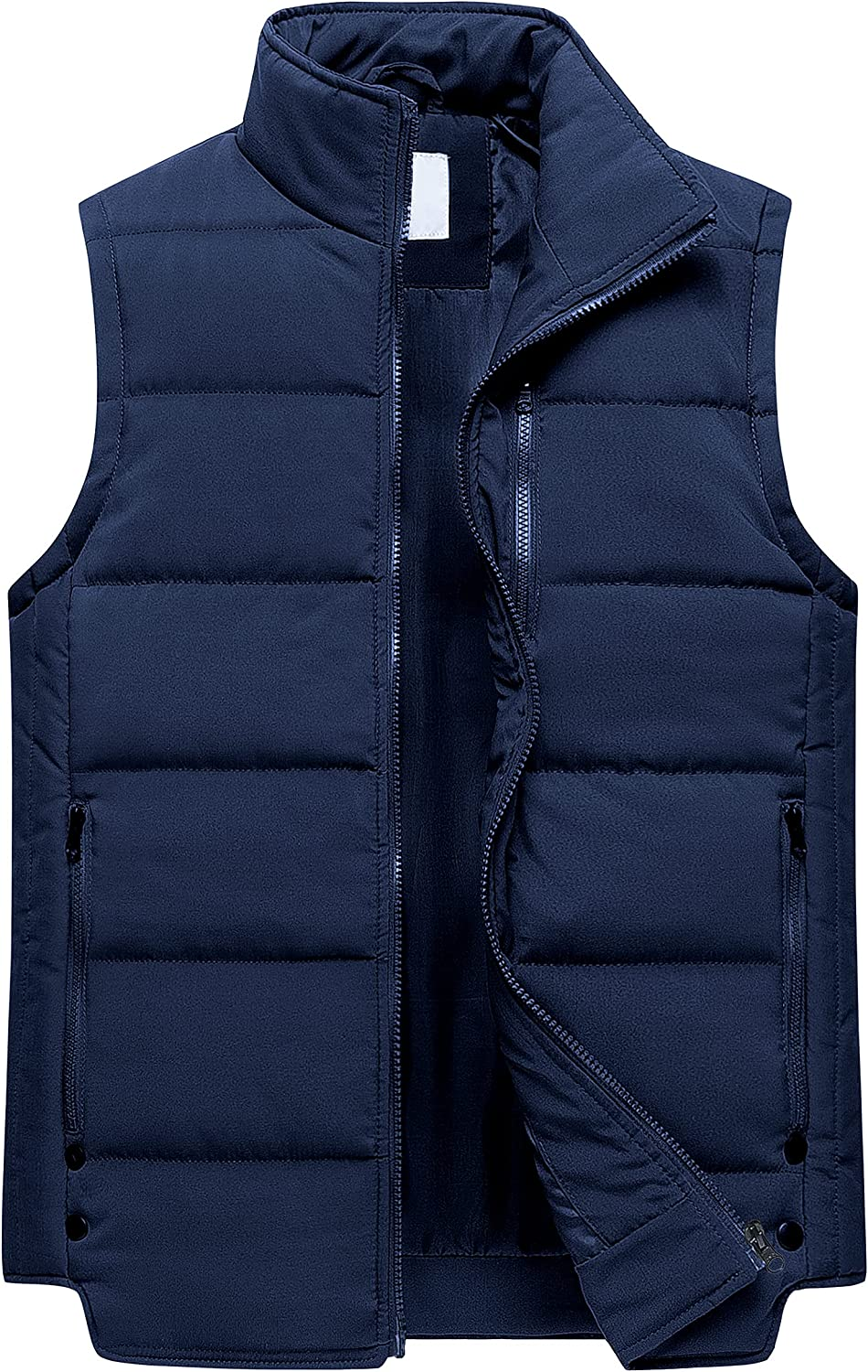 Women's Puffer Vest Casual Stand Collar Quilted Waistcoat Outdoor Padded Ski Vest