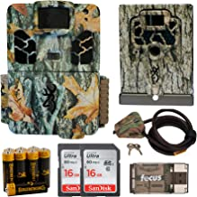 Browning Trail Camera Dark Ops HD Pro X 20MP Game Cam, Security Box, Cable Lock, Batteries, Two Cards and Focus Reader Kit Bundle