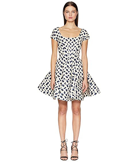 Zac Posen Polka Dot Printed Dress
