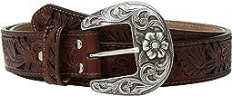 M&F Western Floral Pierced Sequin Underlay Belt
