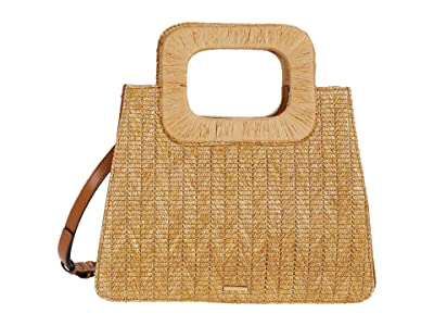 Vince Camuto Kenni Satchel (Natural) Satchel Handbags
