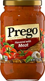 Sponsored Ad - Prego Pasta Sauce, Italian Tomato Sauce with Meat, 14 Ounce Jar (Pack of 12)