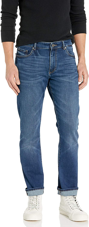 Herren Relaxed Straight Leg Russell F190-010 Jeans Reg Waist Cross