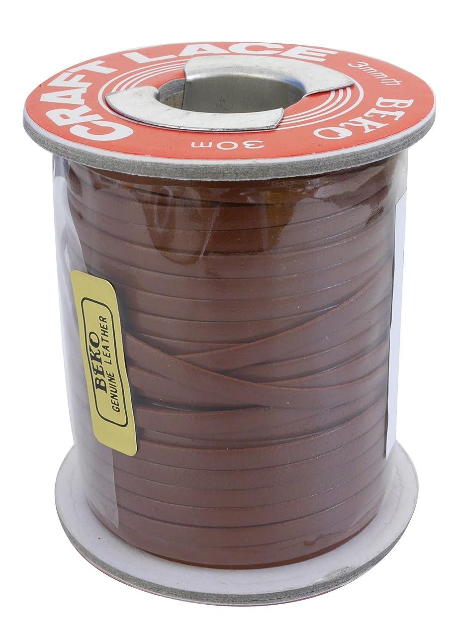 要求する亡命半島クラフト社 かがり用レース クラフトレース 巻 3mm 茶 3524-06