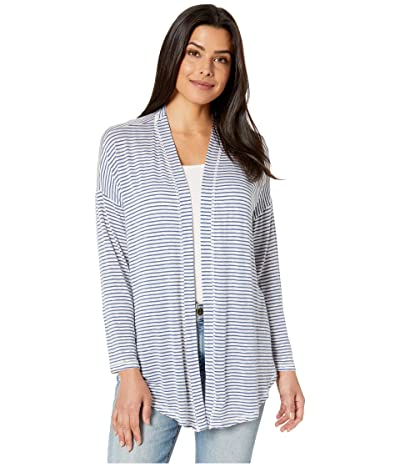 B Collection by Bobeau Cecile Tie Front Cardigan (Blue) Women