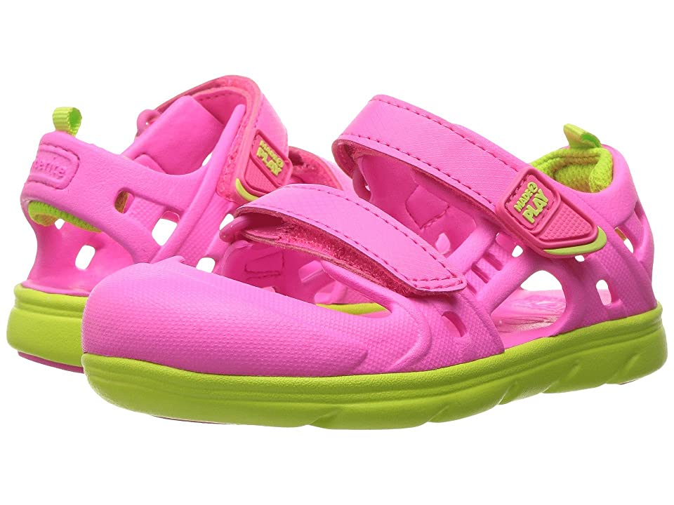 Stride Rite Made 2 Play Phibian Sandal (Toddler) (Pink) Girls Shoes
