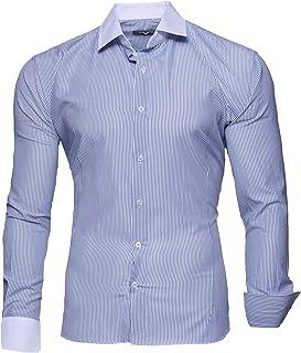 2e90a4a1 Kayhan Hombre Camisa Manga Larga Slim Fit S M L XL 2XL Modello - Rayas