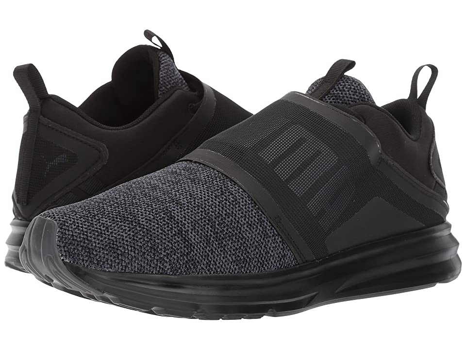 PUMA Enzo Strap Knit (Puma Black/Asphalt) Men