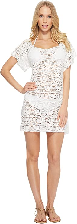 Crochet Short Dress Cover-Up