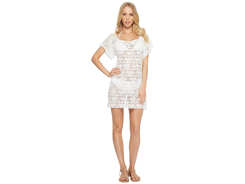 Nanette Lepore Crochet Short Dress Cover-Up (White) Women